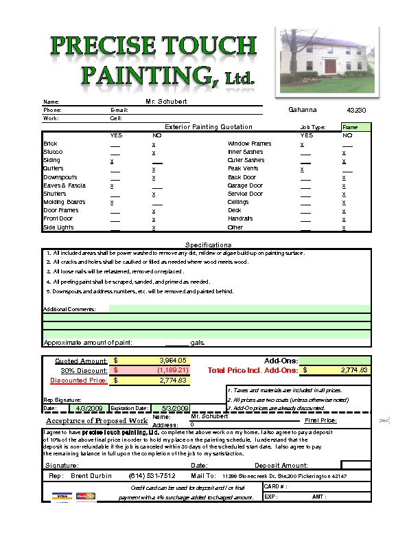 Comexterior painting estimate crowdbuild for - Exterior painting estimate calculator ideas ...